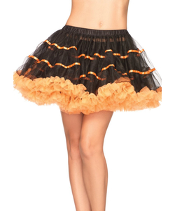 Layered Satin Striped Petticoat