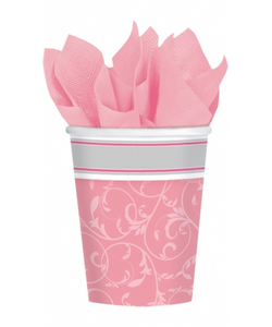Communion Blessing Pink Paper Cups - 12 Pack