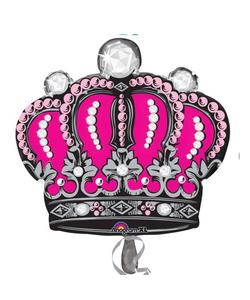 """Diamond Crown Foil Balloon - 25""""x26"""""""