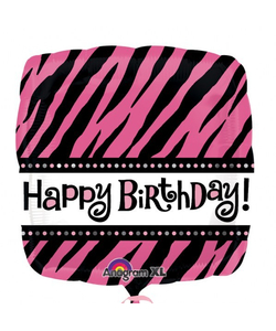 "Happy Birthday Foil Balloon - 17"""