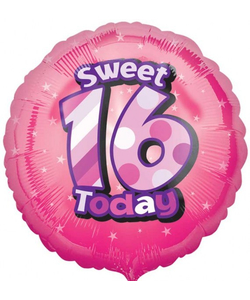 Sweet 16 Today Foil Balloon - 17""