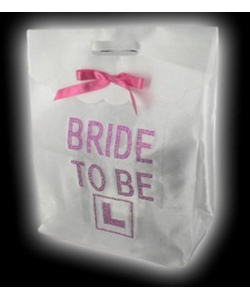 White Bride To Be Gift Bag