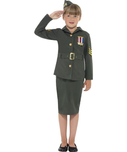 WW II Army Girl Costume
