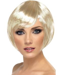 blonde crop bob wig