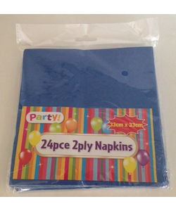 Blue Napkins - 24 Pack