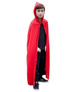 Kids Hooded Cape - Red