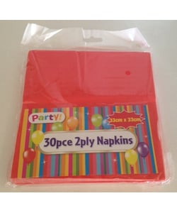 Red Napkins - 30 Pack