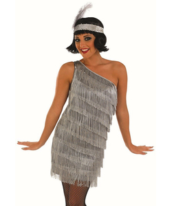 Plus Size Silver flapper