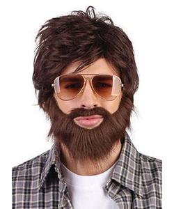 Hangover wig, beard & moustache