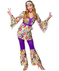 Purple hippie fancy dress