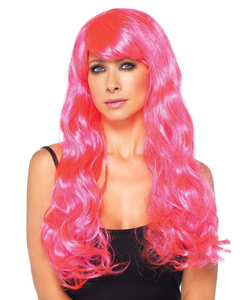 Glow Two-Tone Long Curly Wig- blue