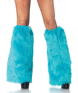 Furry leg warmers TURQUOISE