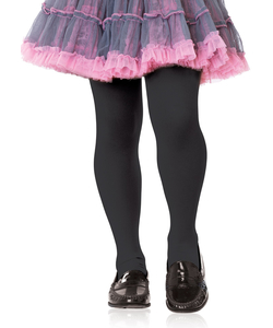 Girls Opaque Tights - Black