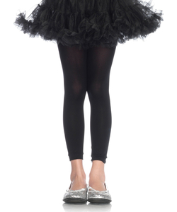 Childrens Black Footless Tights.