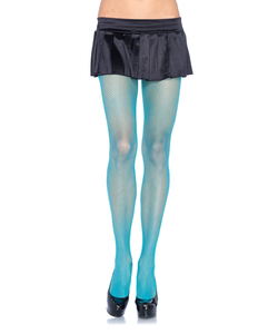 Spandex Fishnet Pantyhose - Neon Blue