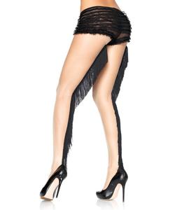 Lycra Sheer Pantyhose With Finge Backseam - Nude/Black