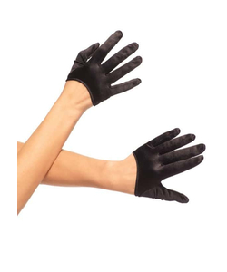 cropped black gloves
