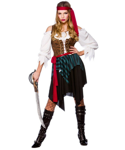 Ladies Caribbean Pirate Costume Plus Size