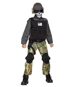skull soldier costume - teen