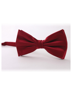 Dark Red Bow Tie
