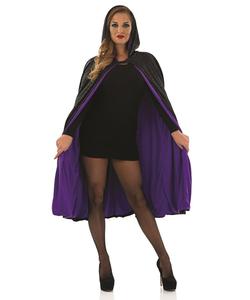 Short Black Purple  Cape