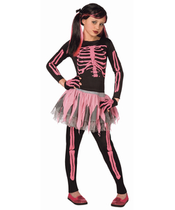 Pink Skeleton - Kids Costume