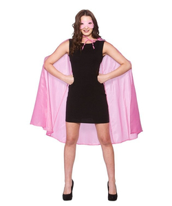 Superhero Cape & Mask pink