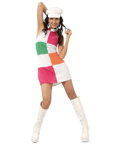 Swinging 60's Mini Dress Costume