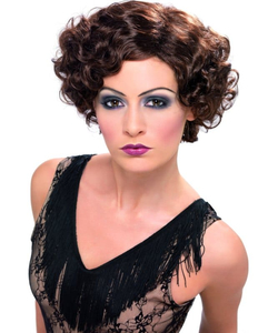 Flapper Wig - Brown