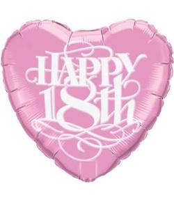 Happy 18th Birthday Balloon - Heart Shape