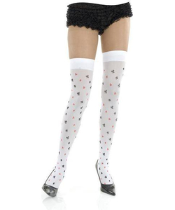 Playing card thigh high stockings