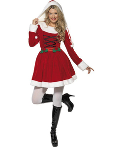 Velour Miss Santa Costume
