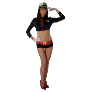 Ladies Classy Captain Naval Officer Navy Sailor Hen Fancy Dress Costume Outfit