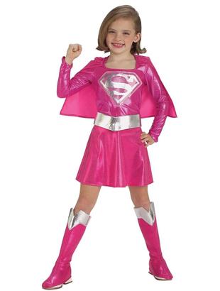 Supergirl pink costume