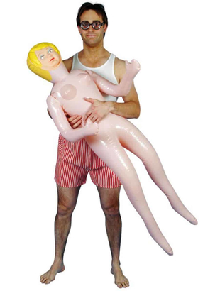 Inoffensive blow up doll - female