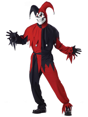 Evil Jester fancy dress costume