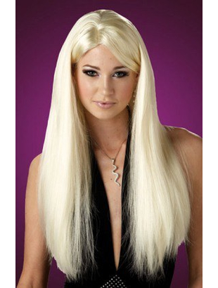 blonde long wig straight