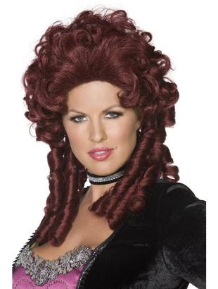 Baroque wig - burgundy