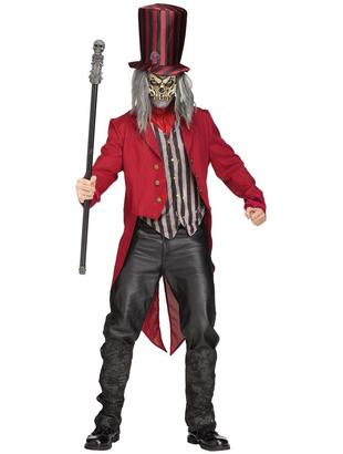 Scary ringmaster costume for Tattoo freak costume