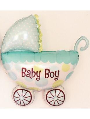 Baby Boy Pram Foil Balloon