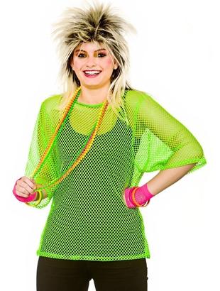 Neon green Mesh Top