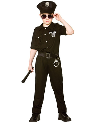 New york cop kids costume