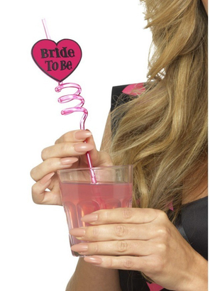 Bride To Be Drinking Straw