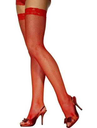 Red Fishnet Stockings