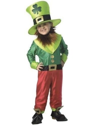 Child's Irish Leprechaun Costume