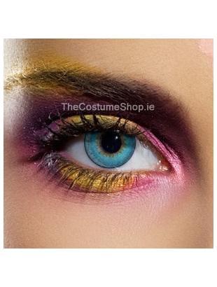 Aqua Three Tone Coloured Eye Lenses