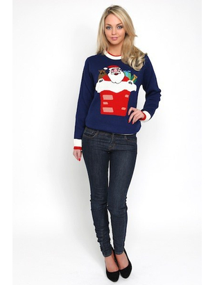 Ladies Santa Jumper