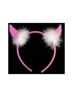 Pvc devil horns hairband