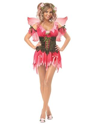 Ladies Rose Fairy Costume