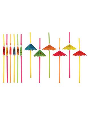 Umbrella Straws - 12 Pack